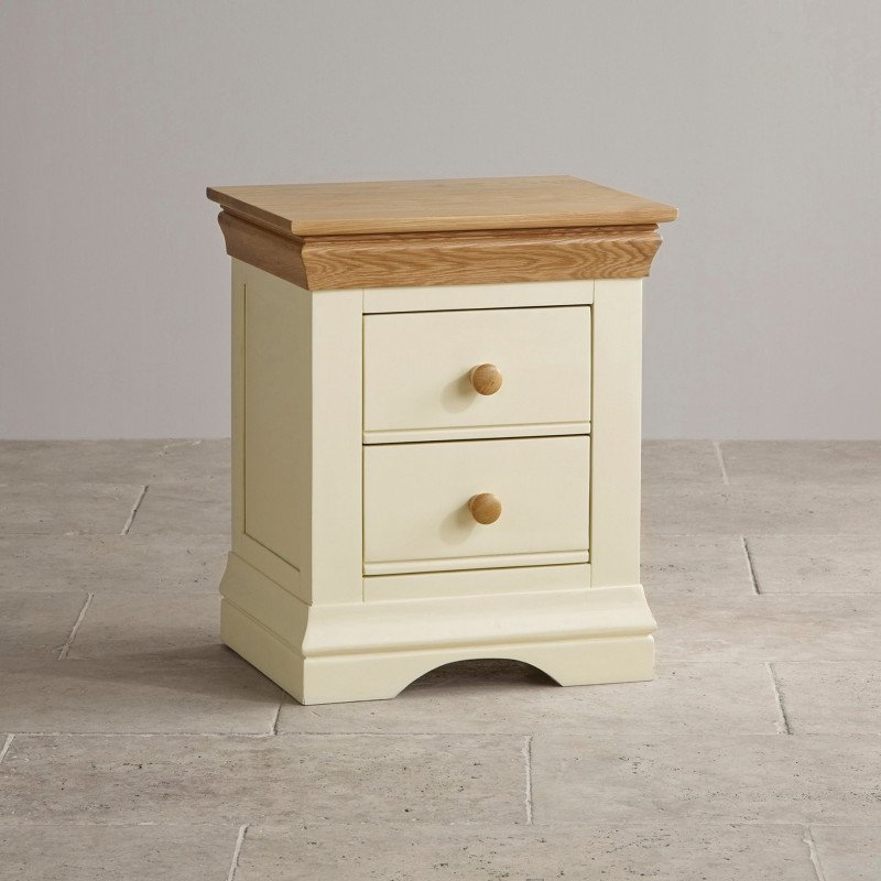country cottage natural oak and painted nightstand 5b642b878137e