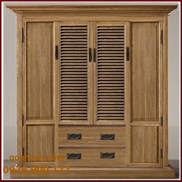 tủ áo gỗ sồi mỹ
