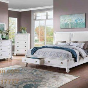 Set phòng ngủ trắng xuất khẩu